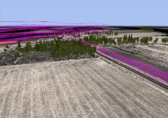 Users of LIDAR analysis software programs can identify and extract power lines from 3-D data for accurate utility management and right-of-way studies.